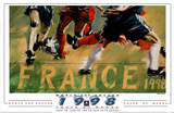 1998 World Cup Soccer France Poster by Aldo Luongo