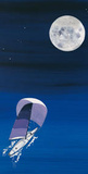 Sailboat & Moon Posters by Rita Mangano