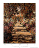 Le Jardin a Giverny Posters by Claude Monet
