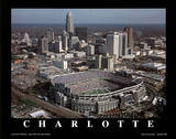 Carolina Panthers Stadium Charlotte N.C. Sports Print by Grad Geller
