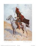 Frederic Sackrider Remington - The Blanket Signal - Reprodüksiyon