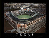 Texas Rangers First Night Game April 13, c.1994 Sports Posters by Mike Smith