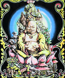 Buddha Blacklight Reactive Cloth Wall Hanging Poster