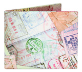 Passport Stamps Tyvek Mighty Wallet Wallet