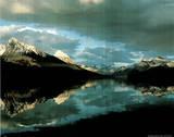 Maligne Mountains (Lake) Print