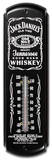 Jack Daniels Whiskey Indoor/Outdoor Weather Thermometer Placa de lata