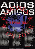 Ramones Adios Amigos The Final Tour Plaque en métal