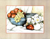Fruit Daisies Grapes Apples Posters
