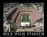 Denver Broncos Mile High Stadium Sports Posters av Mike Smith