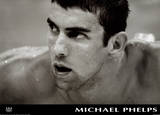 Michael Phelps Black & White Olympics Print