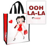 Betty Boop Coke Coca Cola Small Recycled Shopper Tote Bag
