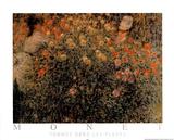 Femmes dans les Fleurs Kunstdrucke von Claude Monet