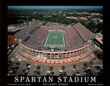 Michigan State University Spartan Stadium NCAA by Mike Smith Sports Posters