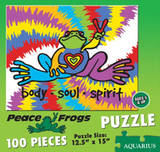 Peace Frogs 100 Pc Animal Jigsaw Puzzle Jigsaw Puzzle