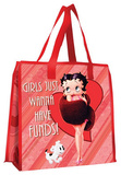 Betty Boop Girls Have Funds Large Recycled Shopper Tote Bag
