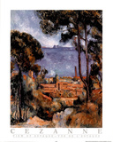 View of Estaque Print by Paul Cézanne