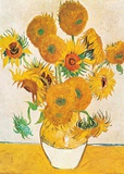 Vase with Fifteen Sunflowers Posters by Vincent van Gogh