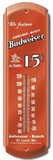 Budweiser Beer 15 Cents Indoor/Outdoor Weather Thermometer Tin Sign