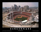 Cincinnati Reds Stadium Opening Game Sports Poster by Mike Smith