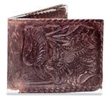 My Old Distressed Leather Tyvek Mighty Wallet Wallet