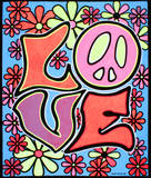 Love Blacklight Reactive Cloth Wall Hanging Tapestry Posters