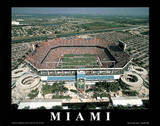 Miami Dolphins Pro Player Stadium Sports Poster by Mike Smith