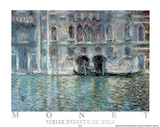 Venise Palazzo De Mula Posters by Claude Monet