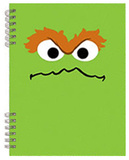 Sesame Street Oscar Lenticular Spiral Notebook Journal
