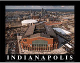 Indianapolis Colts Lucas Oil Stadium First Game Sports Plakater av Mike Smith