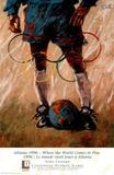 Where the World Comes to Play Atlanta, c.1996 Olympics Plakat autor Aldo Luongo