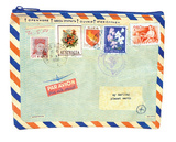 Airmail Zipper Pouch Zipper Pouch