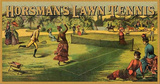 Horsman's Lawn Tennis Ad Tin Sign