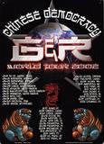 Guns N Roses Chinese Democracy World Tour 2002 Concert Plaque en métal