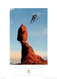 Ski Jumping Balanced Rock 2002 Salt Lake City Olympics Poster