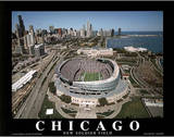 Chicago Bears New Soldier Field Sports Prints by Mike Smith