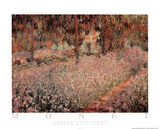 Claude Monet - Garden at Giverny - Poster