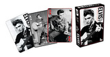 Elvis Presley Black and White Music Playing Cards Playing Cards