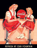 Coca Cola Coke Refresh at our Fountain Tin Sign