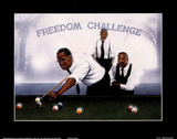 Freedom Challenge MLK Malcolm X Nelson Mandela Posters