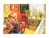 Letter Writing Affiches par Carl Larsson