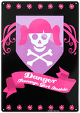 Danger Teenage Girl Inside Tin Sign