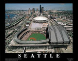 Seattle Mariners Safeco Field Sports Print by Mike Smith