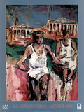 U.S. Olympic Team Athens 2004 Runners Posters by Mina Papatheodorou-Valyraki