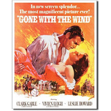 Gone with the Wind Movie Rhett Butler and Scarlett O&#39;Hara Embrace Tin Sign