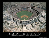 San Diego Padres Qualcom Stadium Final Season, c.1969-2003 Sports Posters par Mike Smith