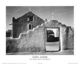 Taos Pueblo Church New Mexico Plakater av Ansel Adams