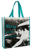 Elvis Presley Left The Building Large Recycled Shopper Tote Bag