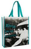 Elvis Presley Left The Building Large Recycled Shopper Tote Bag
