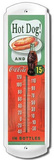 Hot Dog and Coke Indoor/Outdoor Thermometer Tin Sign