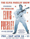 Elvis Presley Show Concert Tin Sign